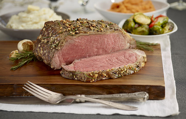 Rosemary and Garlic Strip Loin Roast