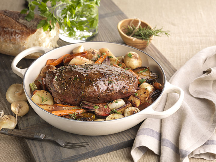 Chuck Roast in Red Wine Broth