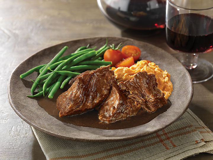 Slow Cooked Pot Roast With Balsamic Sauce