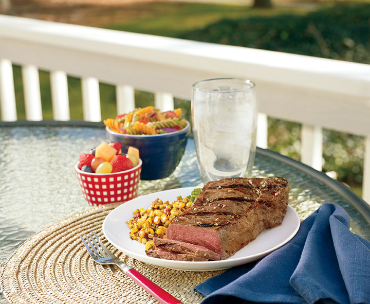 Strip Steak and Corn Salsa