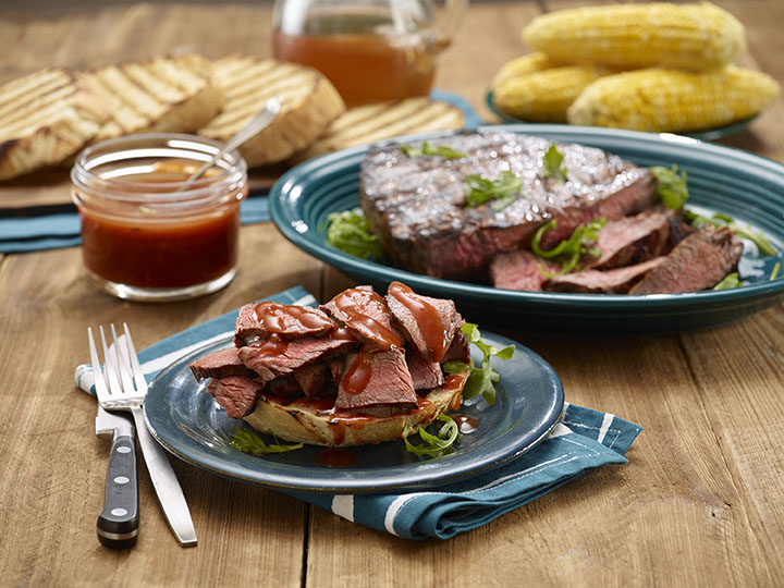 Grilled Maple Whiskey Top Sirloin BBQ Sandwich